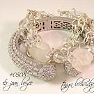 Crystal Quartz Gemstone & Florentine Finish Bracelet