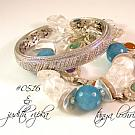 Angelite & Crystal Quartz Gemstone Bracelet