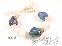 Fluorite & Crystal Quartz Potato Chip Bracelet