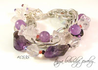 Rough & Polished Amethyst & Crystal Quartz Bracelet-amethyst,crystal,quartz,bead,bracelet, jewelry,Stephen dweck,gemstone,Czech glass,jay king,bridal,bridesmaid,wedding,royal pains,real housewives,jose & maria barrera,robbi & nikki,Robert Rodriquez,mine finds,desert rose,sincerely,Carolyn Pollack,Czech glass,RHONY,RHOBH,selling new York,double happiness,gossip girls, healing,kendra scott,amarita singh,k amato,bergdorf,bendel,neiman marcus, saks,lisa robertson,qvc,hsn,revenge, stella dot,paige,baublebar,MADEusa, destination,inspired style,colleen lopez,cl,deb guyot,designer,Stanley korshak,carol brodie,rarities,marie chavez,gem insider,meghan brown,wendy mink,elva fields,sundance,anthropologie, devon leigh,rarities,carol brodie,miriam haskell,miriam salat,lulu frost,j crew, nyfw,judith ripka,joan boyce, lucite, vintage,lola rose,