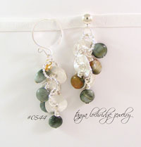 Eagle Eye Agate Gemstone & Sterling Drop Earrings