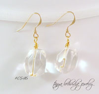 Crystal Quartz Gemstone Drop Earrings