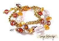 Crystal Quartz, Pearl & Gold Vermeil Gemstone 3-Strand Bracelet