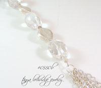 Crystal Quartz Gemstone & Silver Tassel Gemstone Necklace