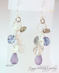 Florentine Sterling Silver & Sea Glass Czech Glass Drop Earrings