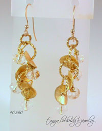 Florentine Gold Vermeil & Clear Czech Glass Drop Earrings